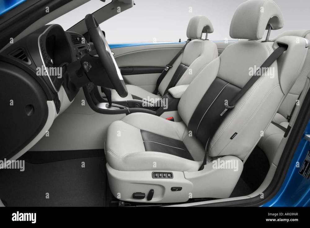 medium resolution of 2007 saab 9 3 aero in blue front seats