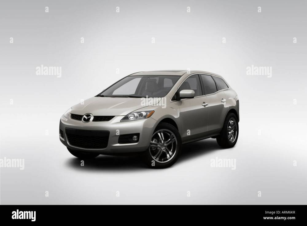 medium resolution of 2008 mazda cx 7 grand touring in silver front angle view