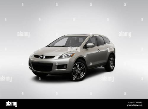 small resolution of 2008 mazda cx 7 grand touring in silver front angle view
