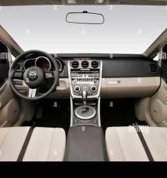 2008 mazda cx 7 grand touring in silver dashboard center console gear shifter view [ 1300 x 956 Pixel ]