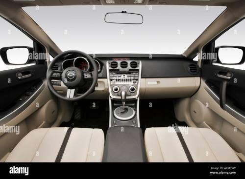 small resolution of 2008 mazda cx 7 grand touring in silver dashboard center console gear shifter view