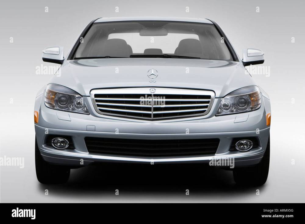 medium resolution of 2008 mercedes benz c class c300 in silver low wide front