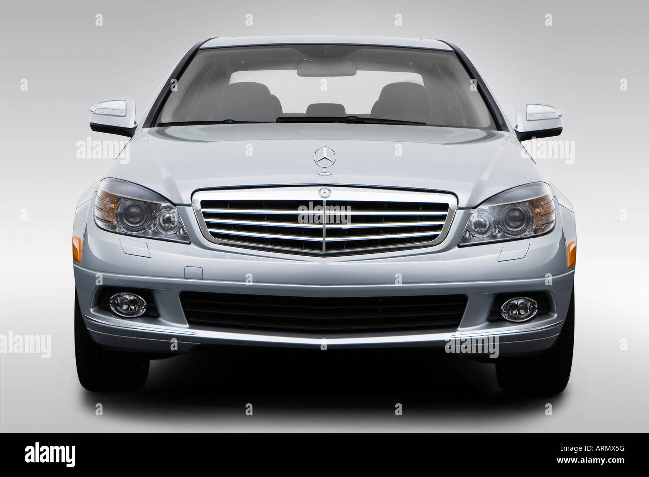 hight resolution of 2008 mercedes benz c class c300 in silver low wide front