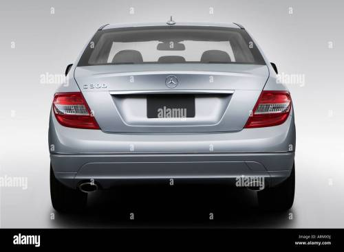 small resolution of 2008 mercedes benz c class c300 in silver low wide rear