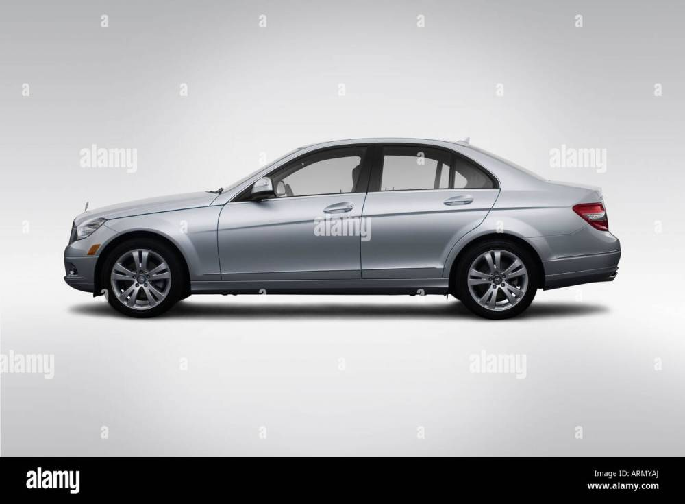 medium resolution of 2008 mercedes benz c class c300 in silver drivers side profile
