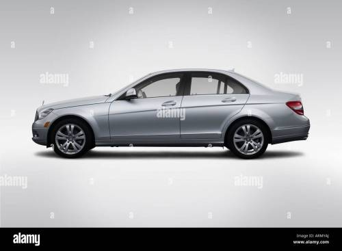 small resolution of 2008 mercedes benz c class c300 in silver drivers side profile