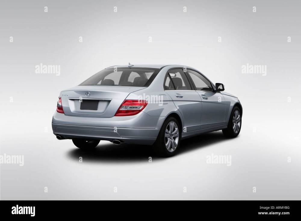 medium resolution of 2008 mercedes benz c class c300 in silver rear angle view