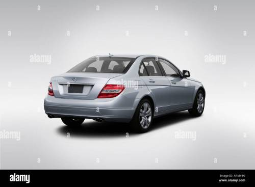 small resolution of 2008 mercedes benz c class c300 in silver rear angle view