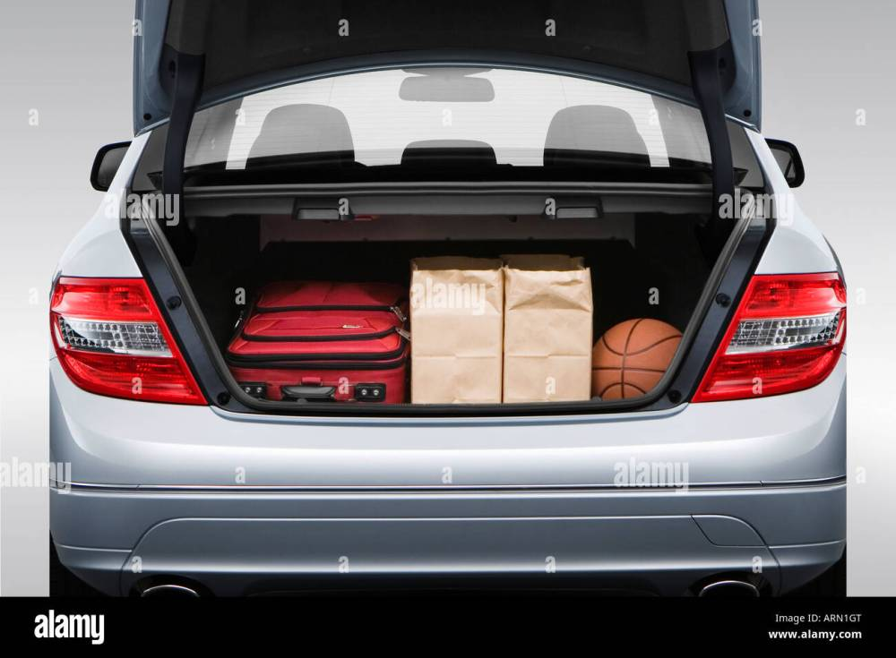 medium resolution of 2008 mercedes benz c class c300 in silver trunk props