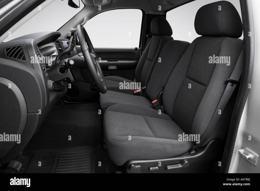 medium resolution of 2008 gmc sierra 2500hd sle in silver front seats