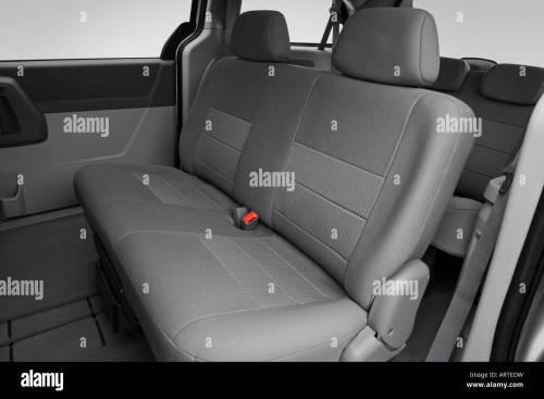 small resolution of 2008 dodge grand caravan se in silver rear seats stock image