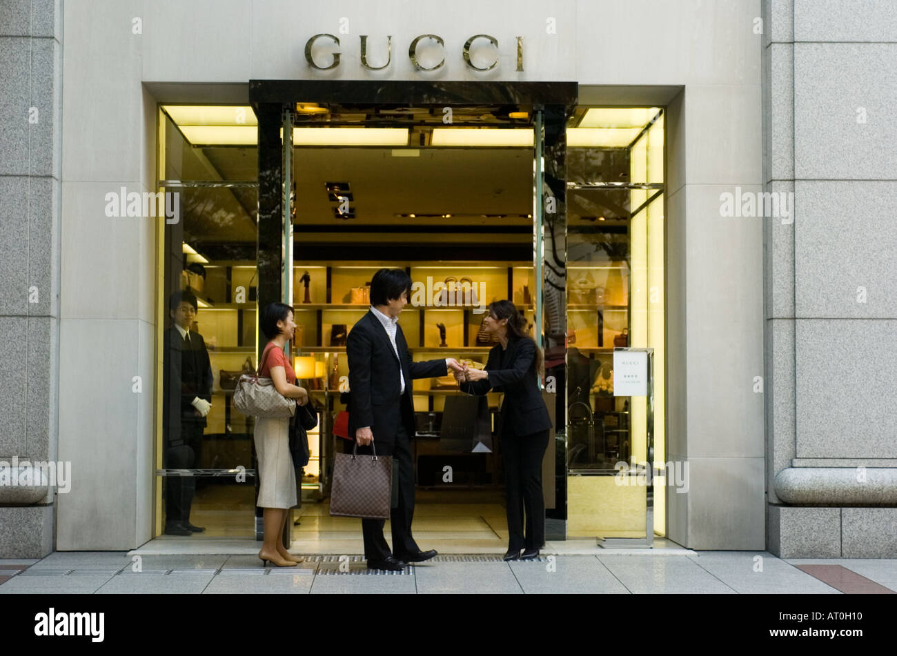 Customers leaving Gucci store in Omotesando Tokyo Japan Stock Photo: 5275919 - Alamy