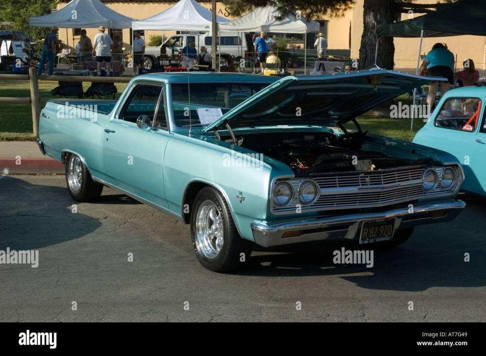 medium resolution of los angeles california car show antique customized 65 1965 chevy chevrolet el camino pickup truck