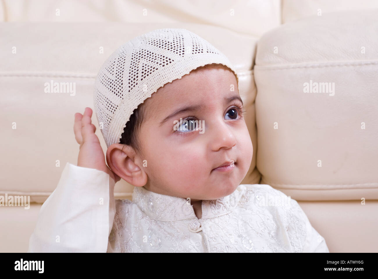 cute muslim baby in