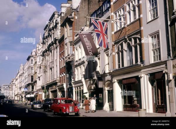 Sothebys Bond Street London Antique Auction House Shops
