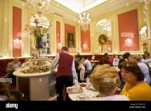 Cafe Sacher Wien Of Hotel Vienna Austria Stock