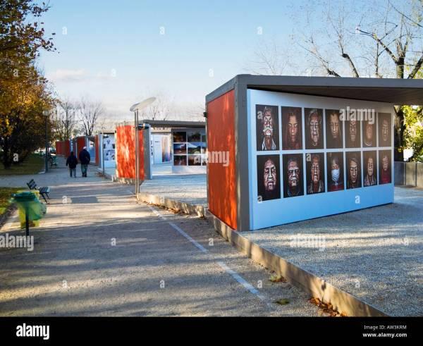 Open Air Art Exhibition Quai Branly Left Bank Of Stock Royalty Free
