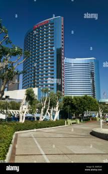 Marriott Hotel San Diego California Usa Stock