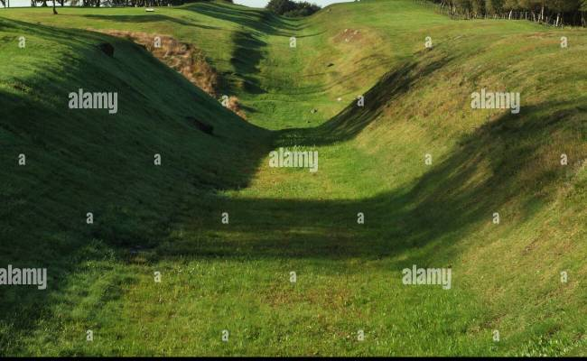 Looking West Along The Antonine Wall At Rough Castle