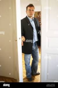Man opening door Stock Photo, Royalty Free Image: 5437813