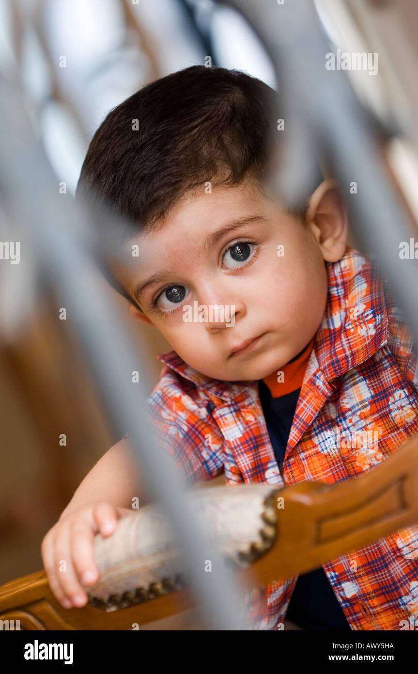 portrait cute muslim baby