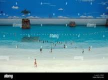 Artificial Beach In Seagaia Ocean Dome Indoor Waterpark