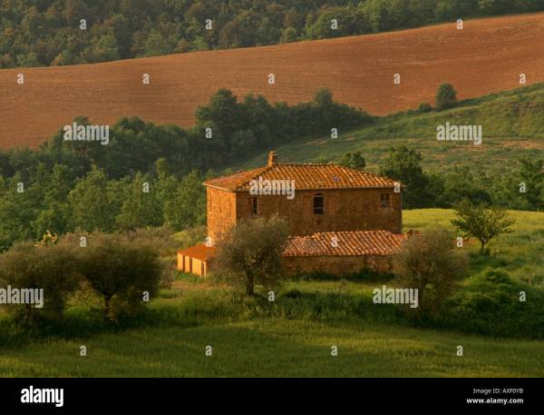 House In Montefollonico In Tuscany Stock Photos House In