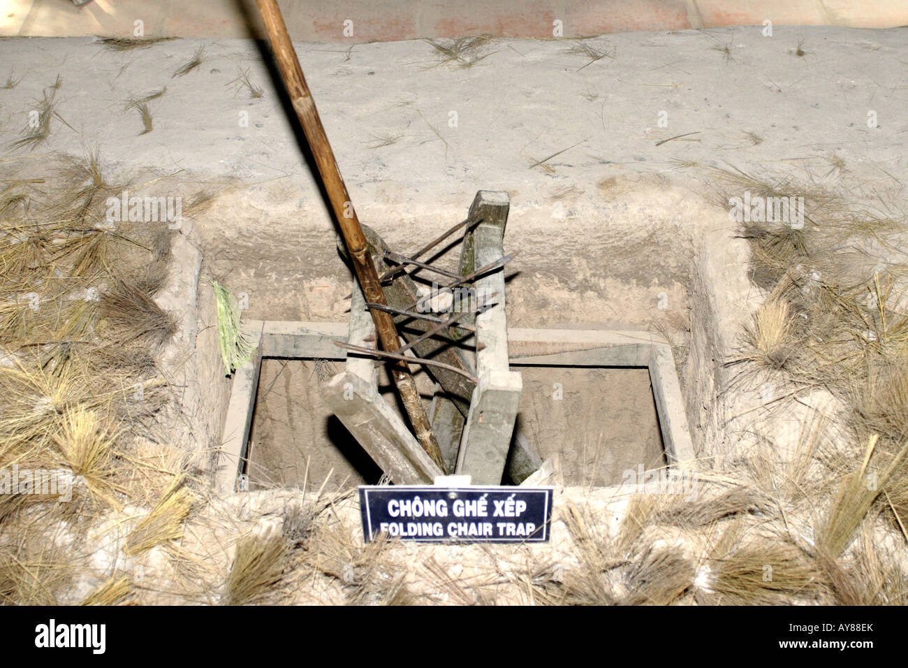 folding chair trap cute desk chairs booby vietnam war stock photos and