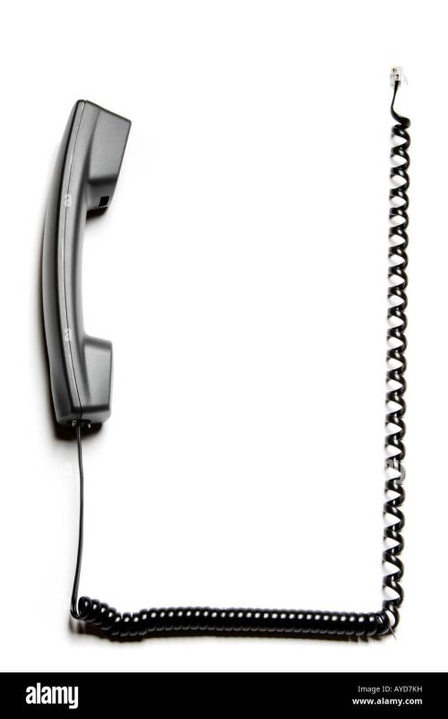 small resolution of frame or border made of a telephone receiver and its curly cable stock image