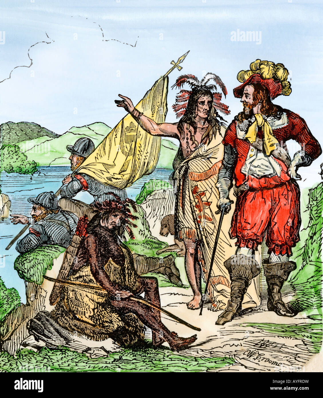 Hernando De Soto Discovering The Mississippi River After