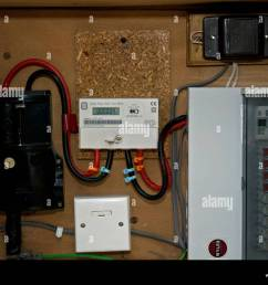 electric meter and fuse board in domestic house stock image [ 1300 x 1011 Pixel ]