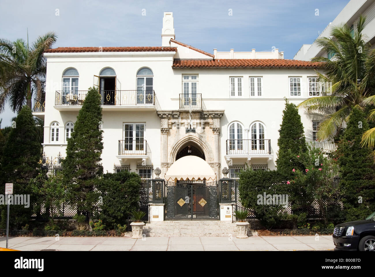 Casa Casuarina the former home of Gianni Versace on Ocean Drive is Stock Photo Royalty Free