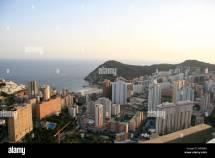 High Rise Hotel Spain Beach Stock &