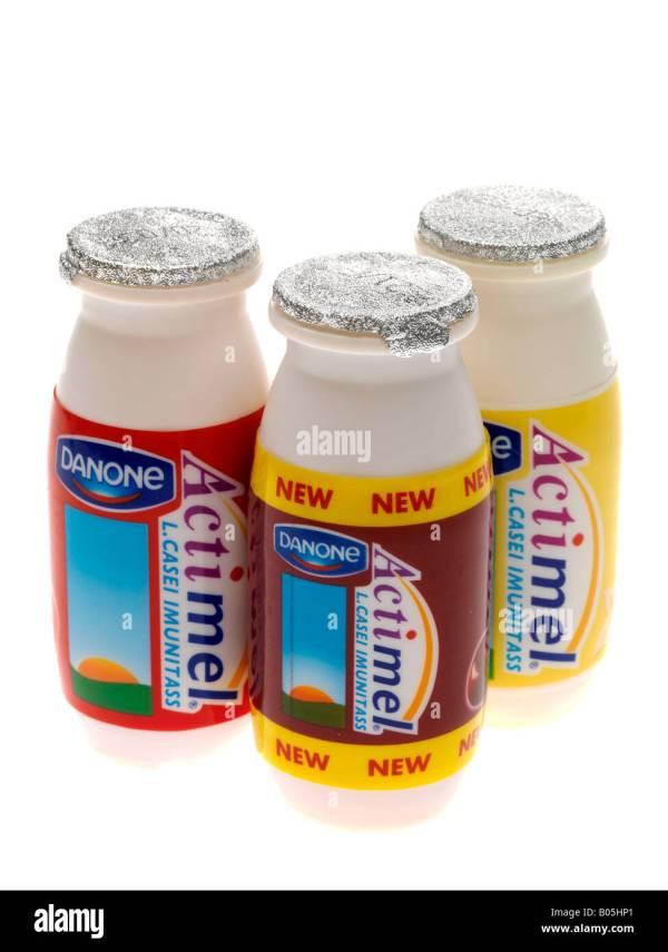 Actimel Yogurt Drink Stock Photos Actimel Yogurt Drink