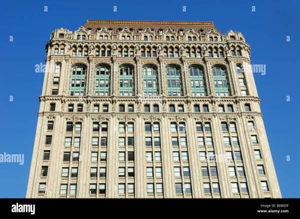Classic Art Deco Building In York City Stock