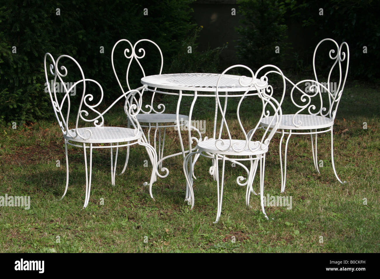 white wrought iron kitchen chairs steel airport chair dining table and in garden stock