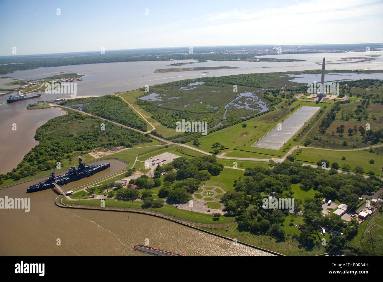 Aerial View Of The San Jacinto Battleground State Historic