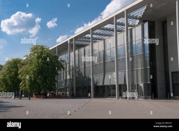 Exterior Of Pinakothek Der Moderne Modern Art Museum In City Stock Royalty Free