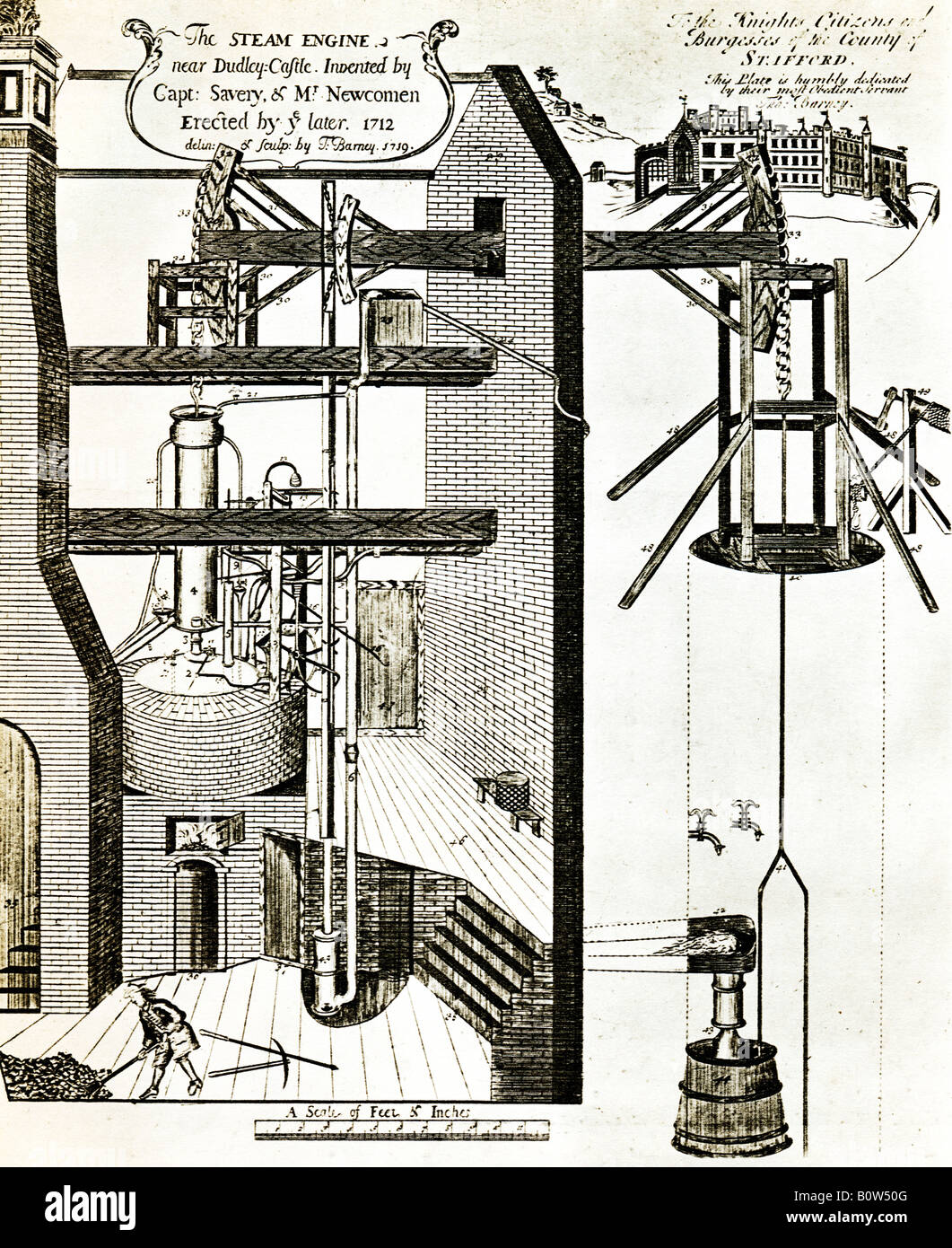 hight resolution of thomas newcomen steam engine 1712 the first atmospheric steam engine in dudley for pumping water out of mines