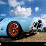 Ford Gt40 Gt Le Mans Racing Car Auto Gulf Engine Orange Blue Stock Photo Alamy