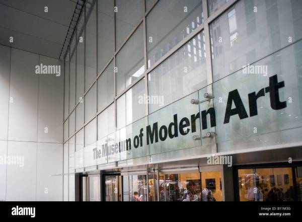 Moma Entrance Sign Museum Of Modern Art Midtown Fifty