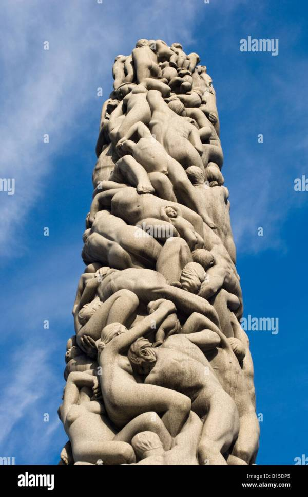 Monolith Monolitten. Vigeland Park Oslo Norway