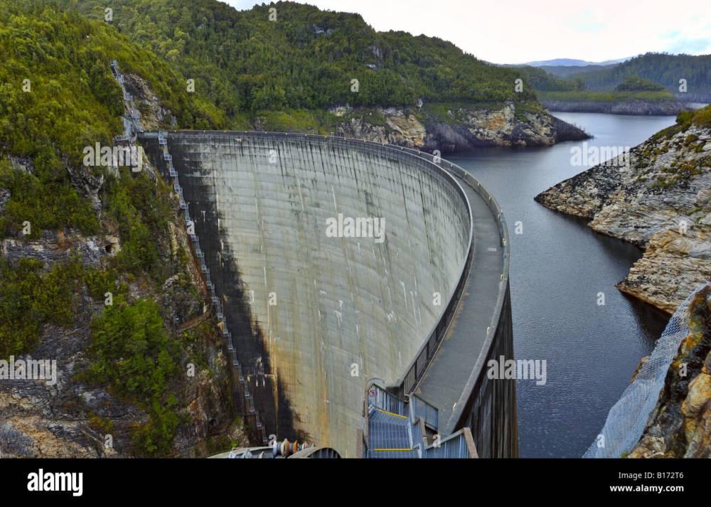 medium resolution of the gordon dam tasmania australia stock image