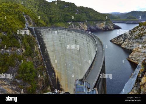small resolution of the gordon dam tasmania australia stock image