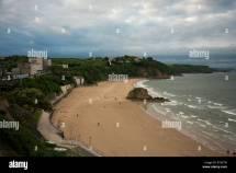 North Beach Tenby Pembrokeshire Wales Showing Goskar