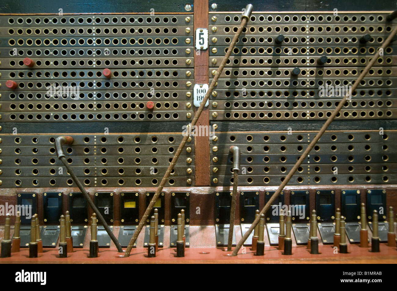 old telephone switchboard with
