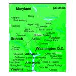 Washington Dc Physical Map Stock Photo Alamy