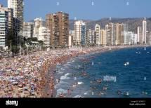 Playa Levante Beach Midsummer Benidorm Costa