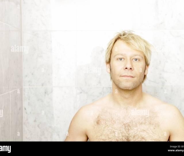 Blonde Man In The Shower