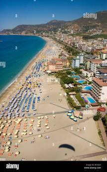 Aerial View Of Beach In Alanya Antalya Turkey Stock